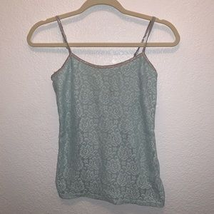 PERFECT CAMI Mint Green Lace Camisole